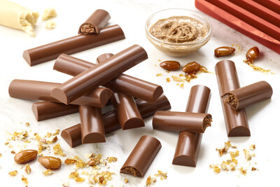 Crunchy Almond Spiced Marzipan and Almond Praline Chocolate Batons Recipe